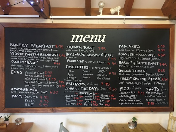 silvers pantry menu